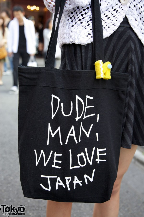 """Dude, Man, We Love Japan"" Ksubi bag"