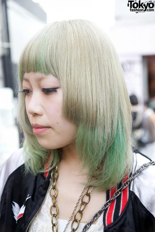 Japanese Girl w/ Green Hair