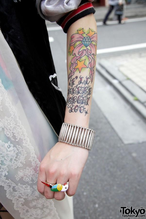 Japanese Girl's Cool Tattoo