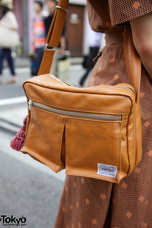 Porter purse with zippered pockets
