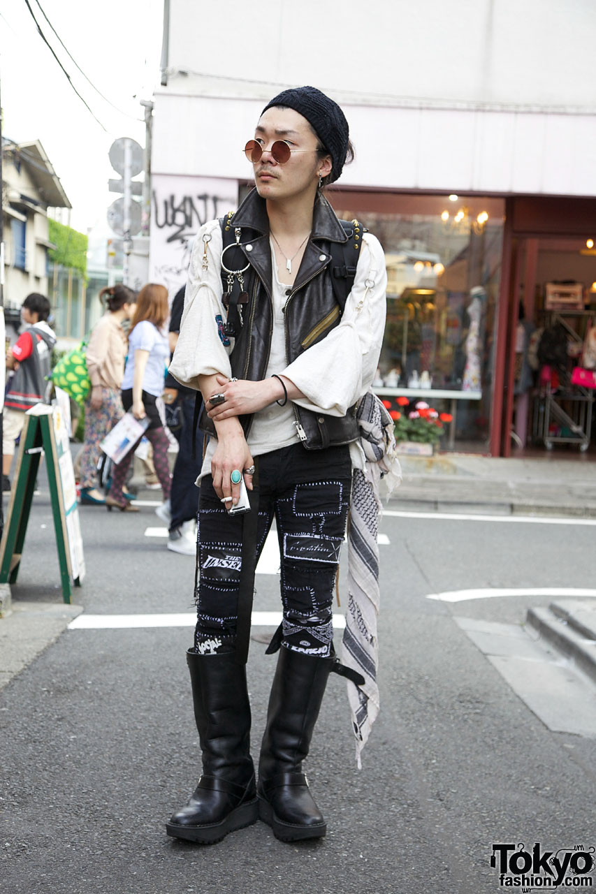 Indie Japanese Fashion Designer 39 S Punk Inspired Style In Harajuku