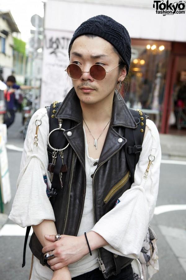 Blackmeans Studded Leather Vest