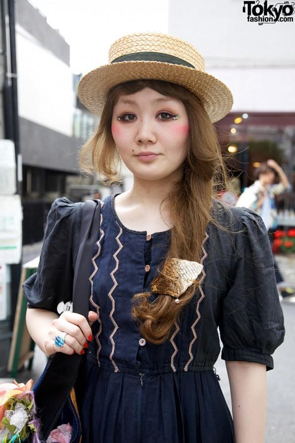 Embroidered Machida dress