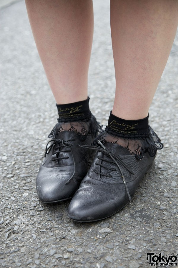 American Apparel jazz shoes & lace socks