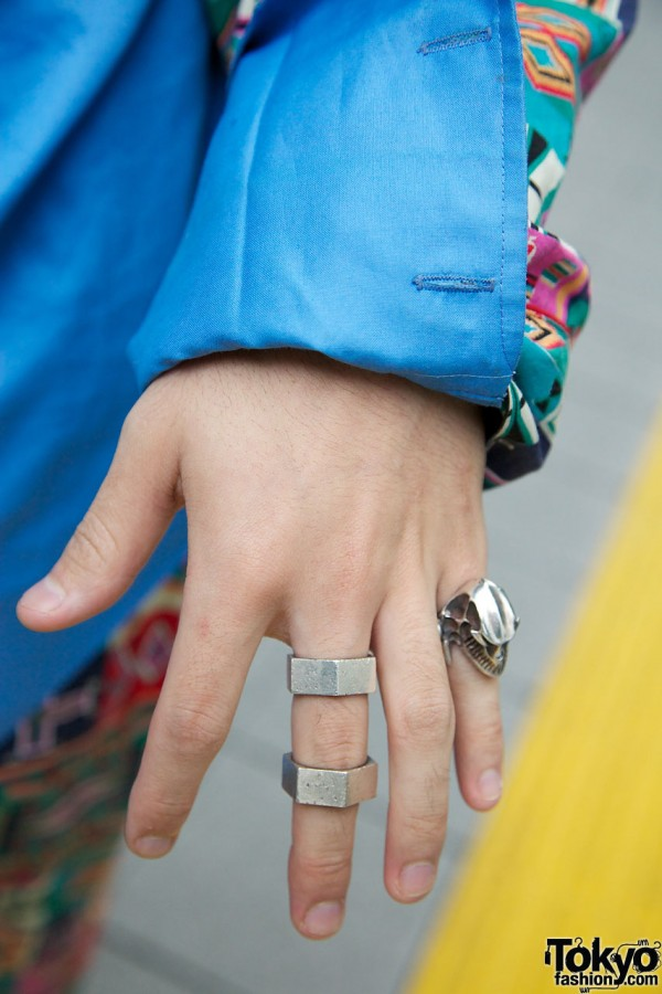 Japanese Guy's Silver Rings