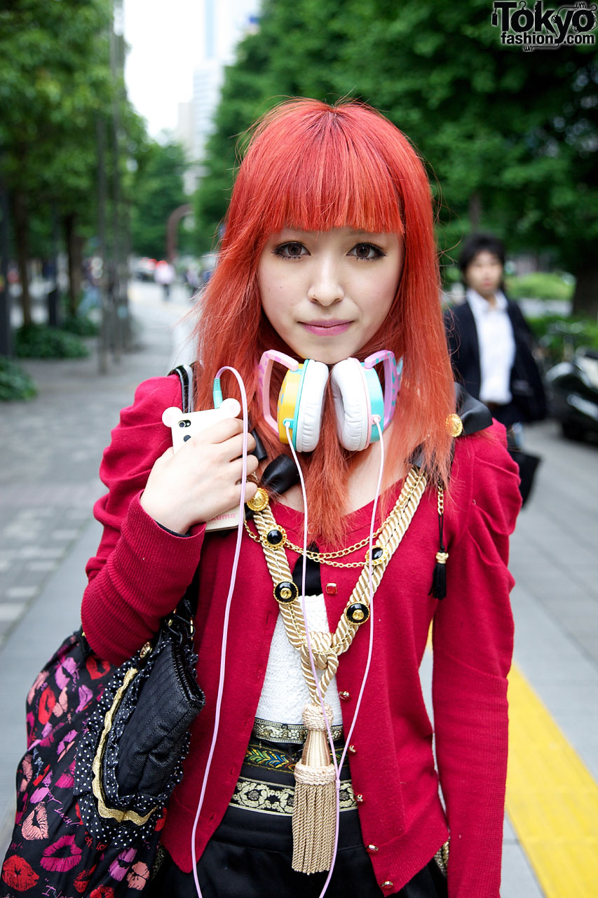 Orange Haired Girl S Murua Fashion Amp Tassel Necklace In