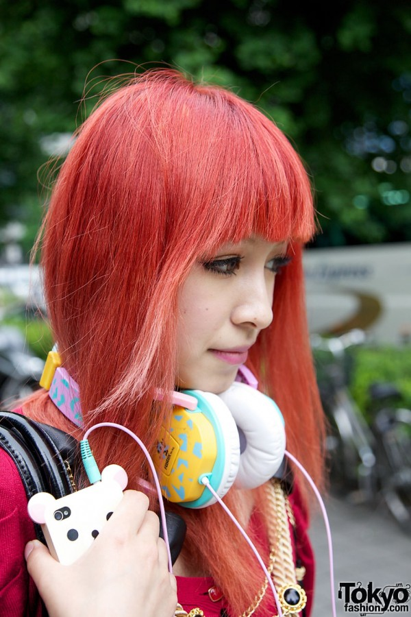 Orange Hair Girl in Shinjuku