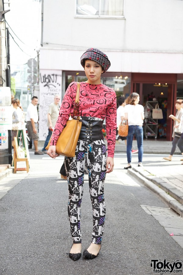 Dog Harajuku Fashion Fangophilia Rings Myob Nyc Bag: Dog Harajuku Ayaka W/ Vintage Top, Corset Belt & High