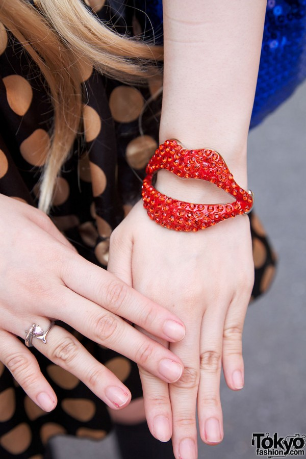Lucious lips bracelet