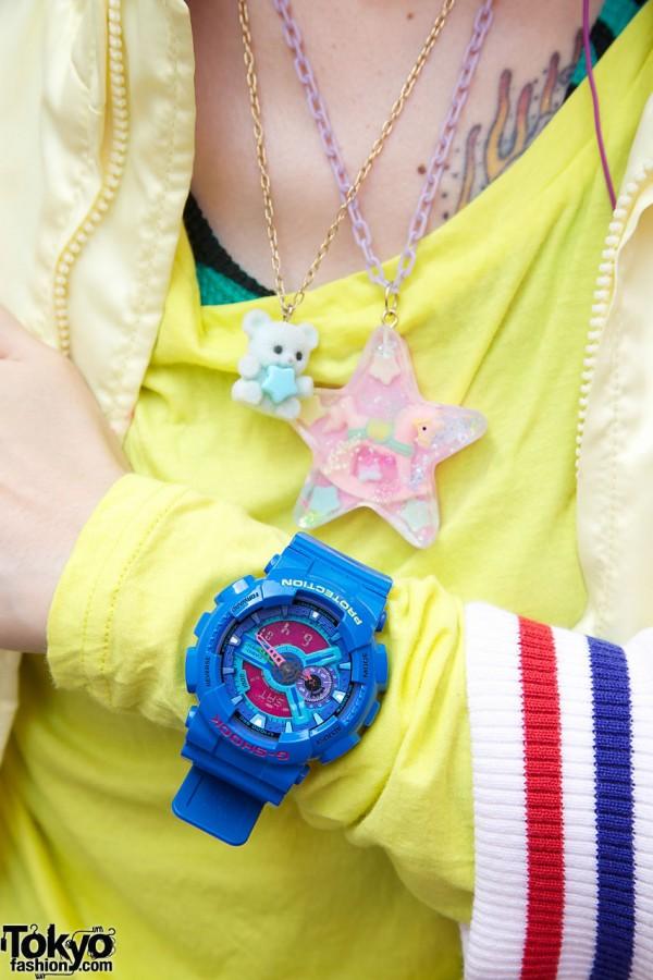 Blue G-Shock watch