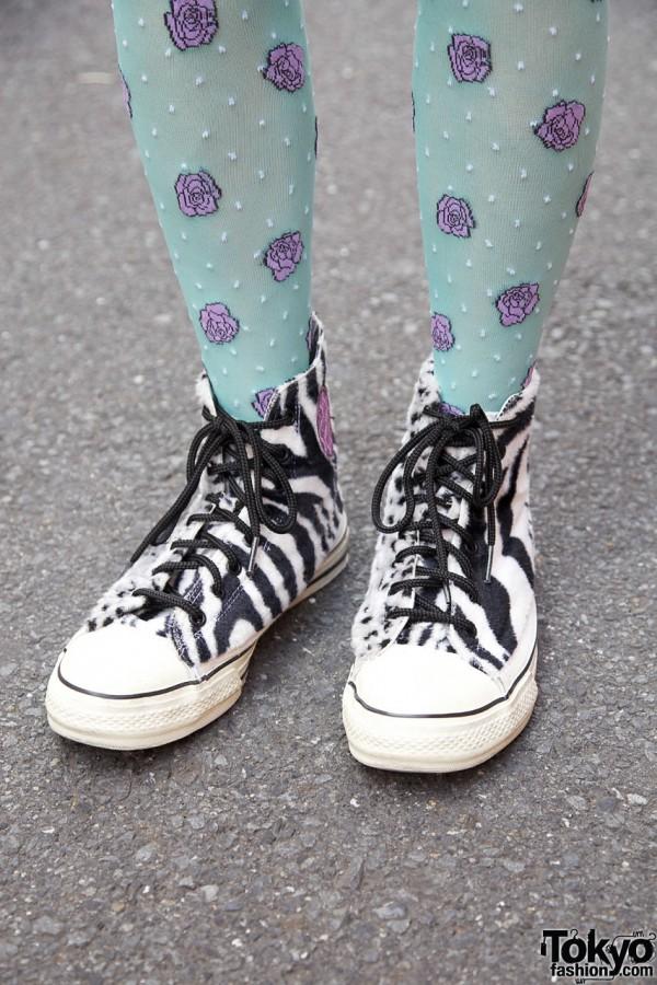 RNA furry zebra stripe sneakers