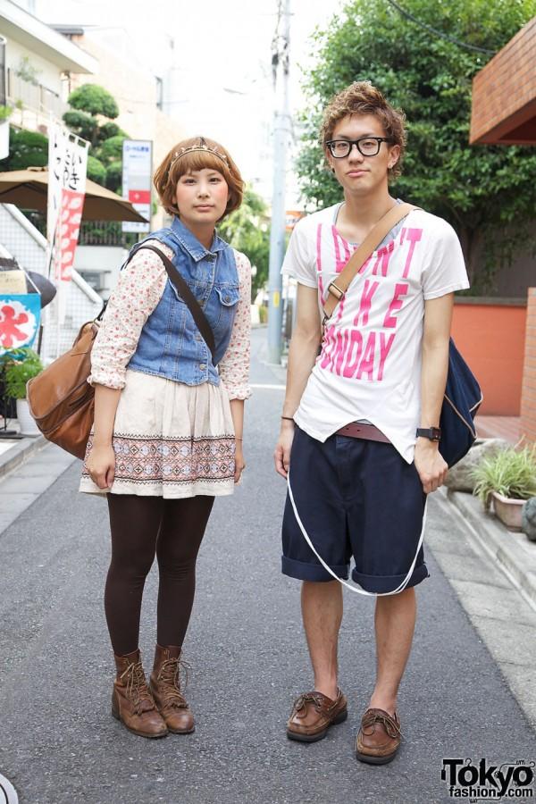 Girl in Santa Monica vest & guy in I Don't Like Mondays t-shirt