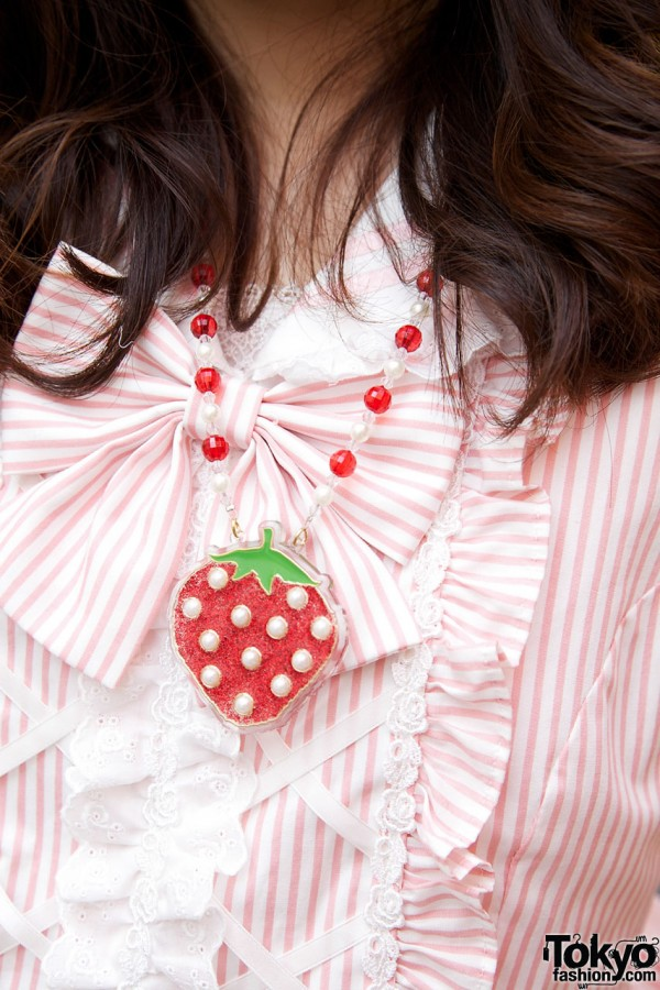 Swimmer Strawberry Necklace in Harajuku
