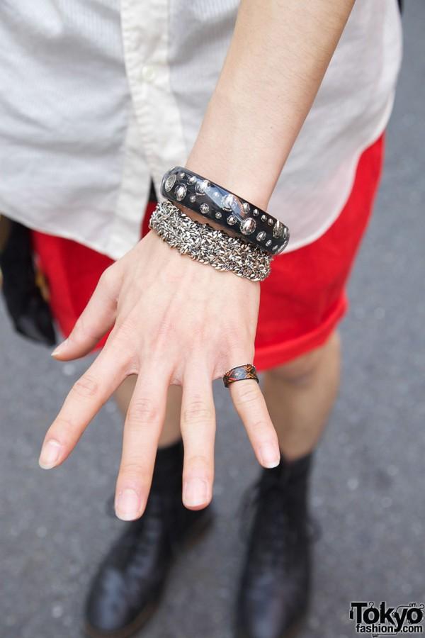 Marc Jacobs bangle w/ bangle & ring