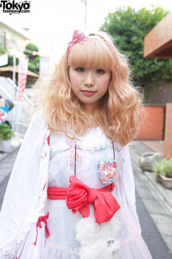 Kinji chiffon dress with scarf sash