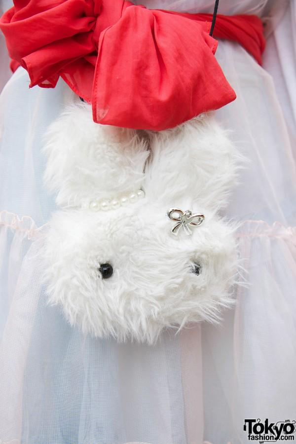 Small furry purse