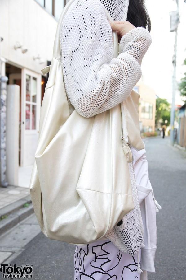 Resale white fabric tote
