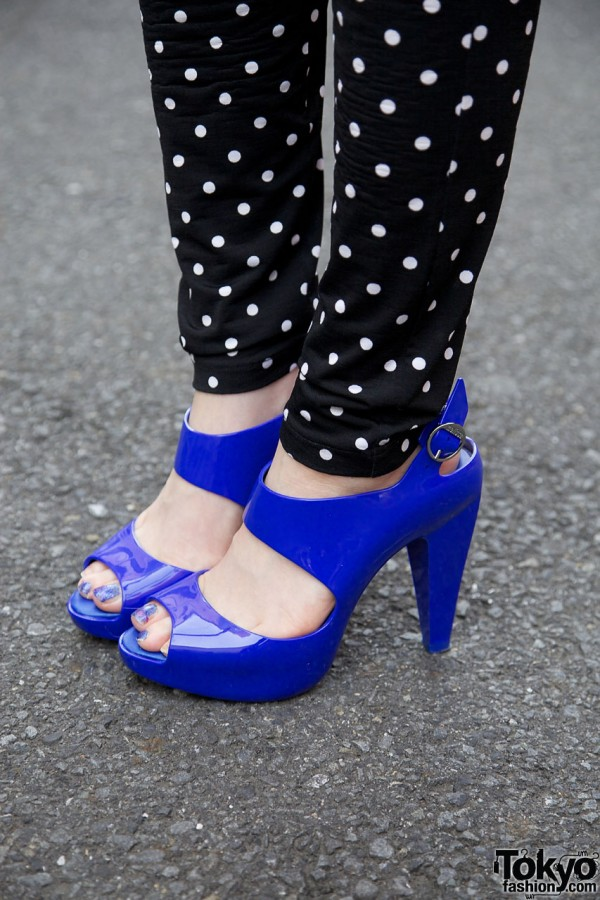 Blue Melissa High Heels