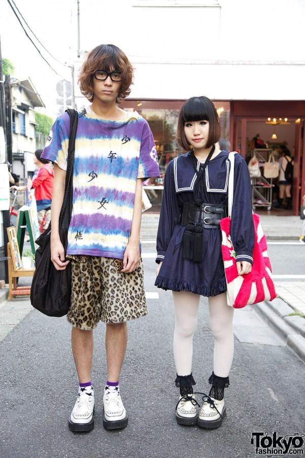 Harajuku Guy & Girl Street Fashion
