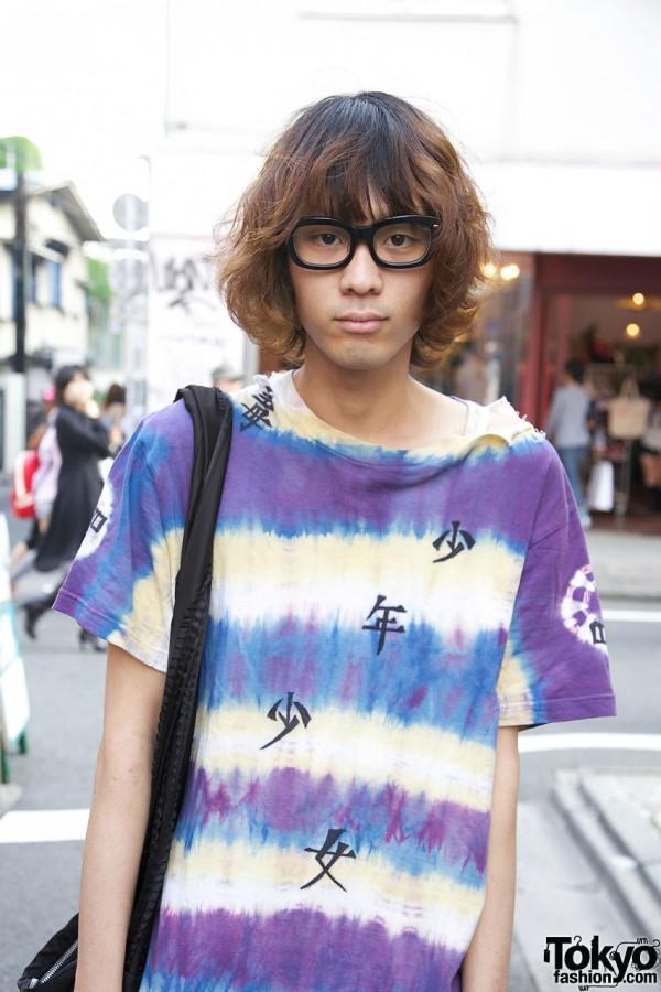 Harajuku Guy in Glasses & Tie Dye