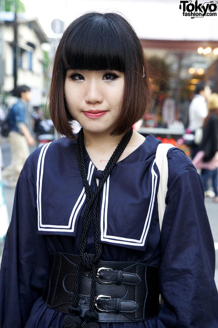 Japanese School Uniform-inspired Harajuku Street Fashion