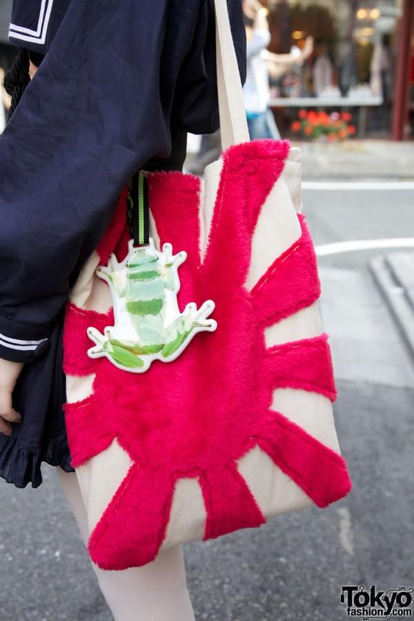 Handmade Japanese Flag Bag