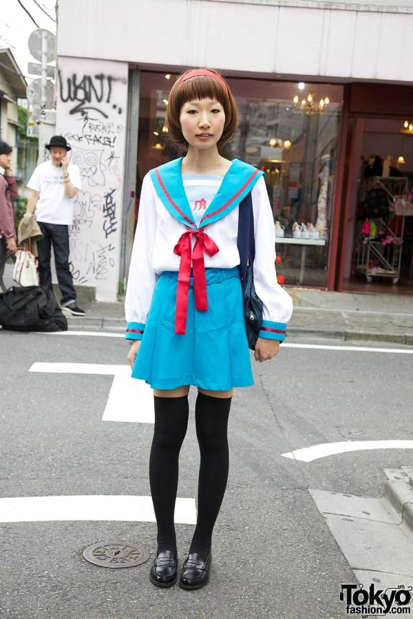 Japanese Girl's Haruhi Suzumiya Cosplay