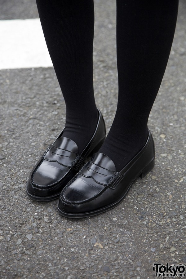 Penny Loafers & Thigh-high Stockings