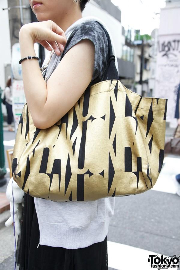 Okiraku logo bag