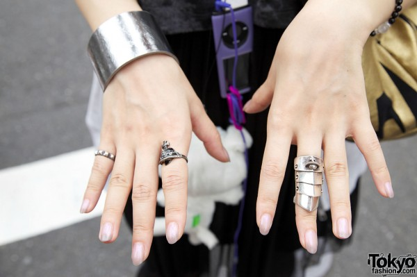 Silver cuff & Vivienne Westwood rings
