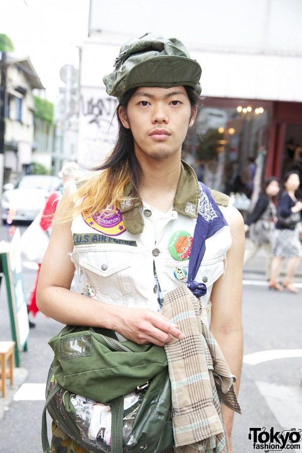Sleeveless Gilet Top in Harajuku