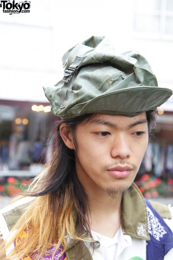 Military Style Hat in Harajuku