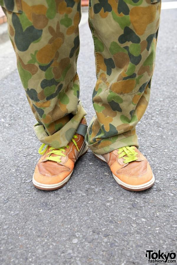 Vintage Nikes & Camouflage in Harajuku