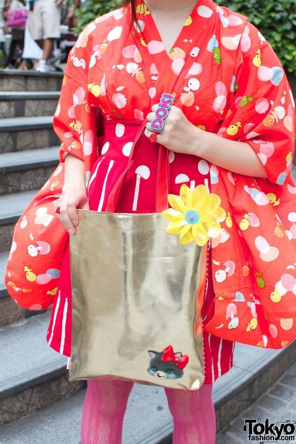 Harajuku Handbag With Cute Cat