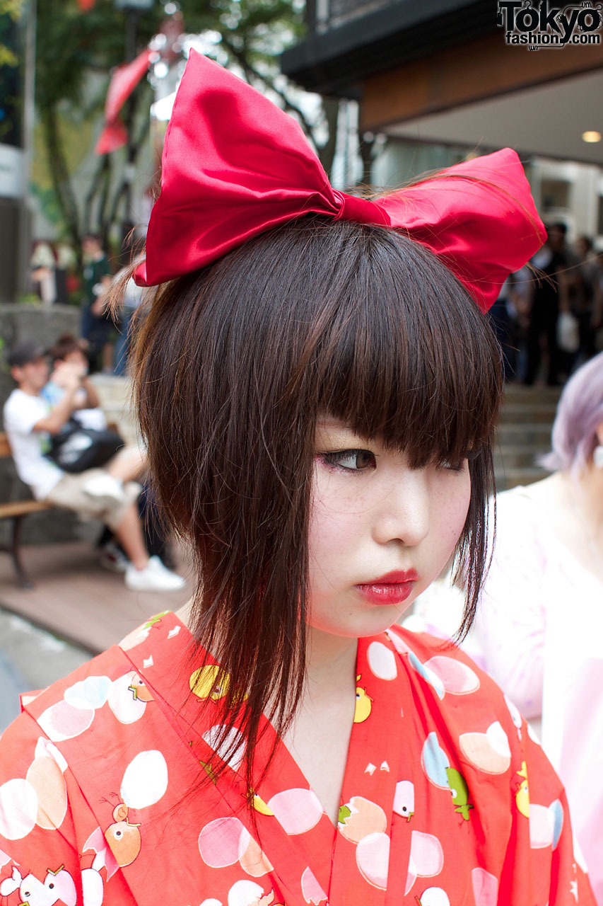 Женская японская прическа фото
