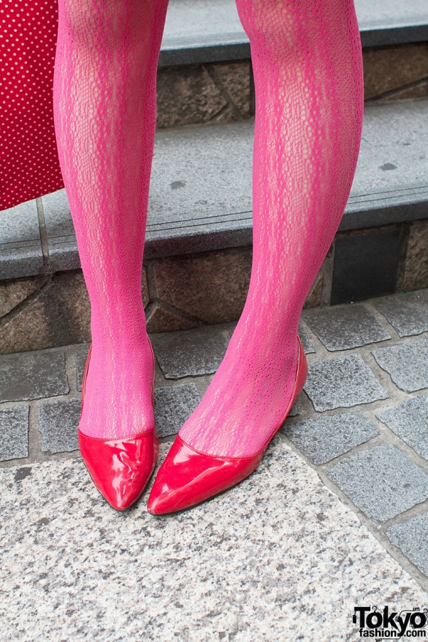 Pink Stockings and Pointy Shoes