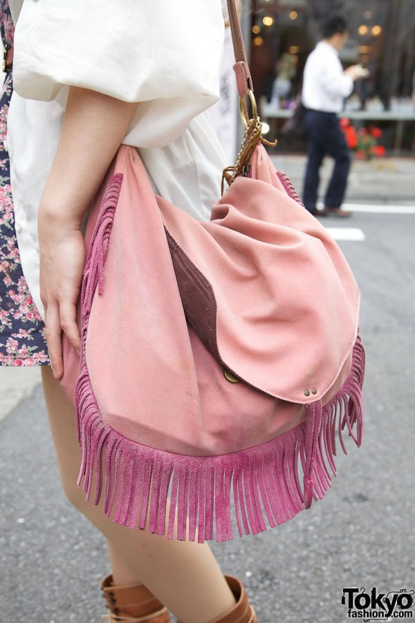 L.D.S. (Love Drug Store) fringed suede purse