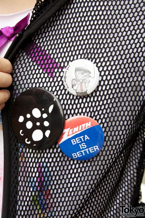 Harajuku Buttons