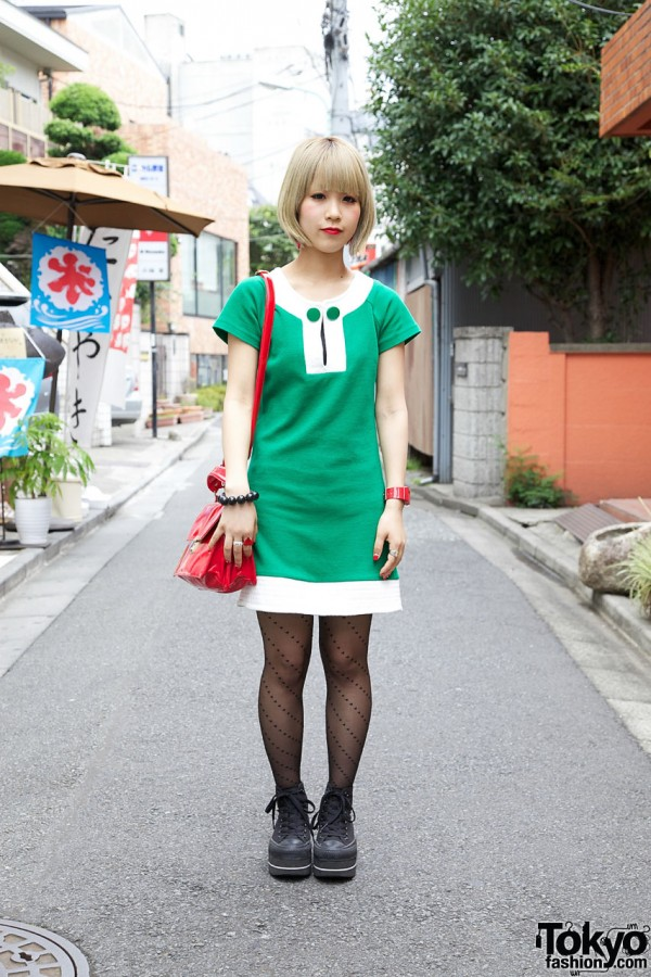 & Retro 1960s Jersey Shift in Harajuku
