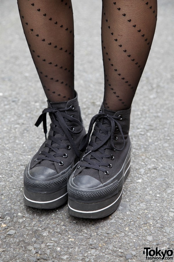 Black platform sneakers from Nadia