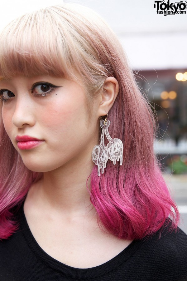 Vargas by Rie Shiraishi Cherry Earrings