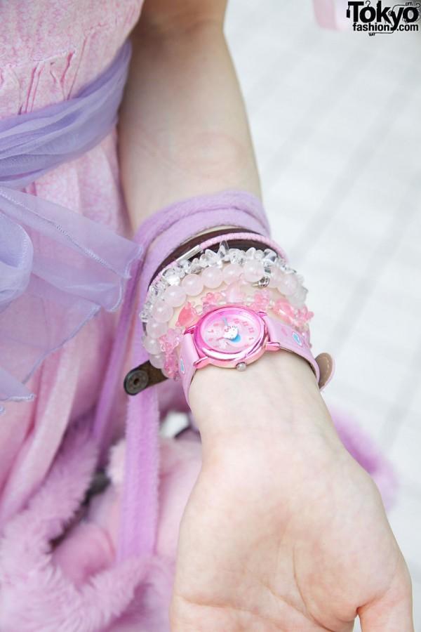 Plastic bead bracelets & Hello Kitty watch