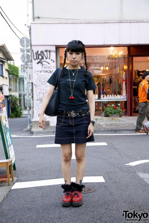 Japanese Girl w/ Piercings, Tattoos & Super Lovers x George Cox Creepers