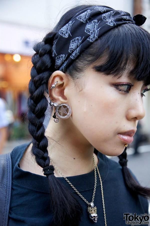 Gauged Earrings in Harajuku