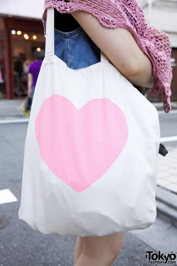 Nadia heart logo bag