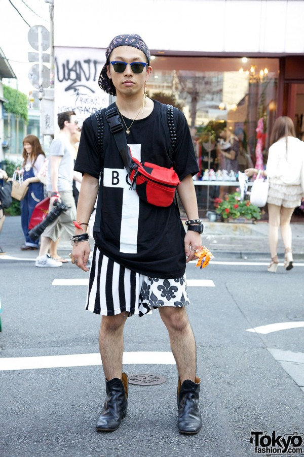 Spinns Harajuku Ren w/ Zaorick Ring, F.E.A.R. Bracelet & Long x Boy London Top