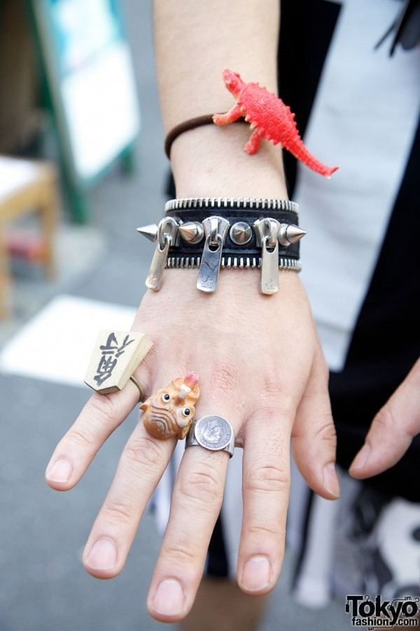 F.E.A.R. Zipper Bracelet in Harajuku