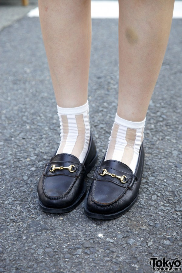 Needles loafers & ankle socks