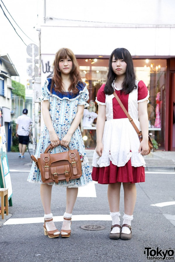Cute Girls in Sunflower Summer Dresses in Harajuku