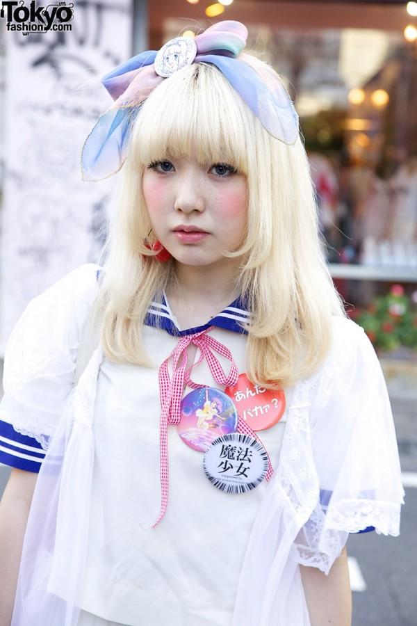 Japanese School Uniform Top in Harajuku